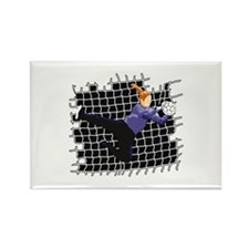 Soccer Girl Goalie Rectangle Magnet