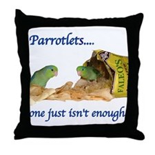 Parrotlets...one isn't..Male  Throw Pillow