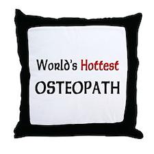 World's Hottest Osteopath Throw Pillow