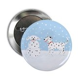 "Dalmatian Snow Dog 2.25"" Button (100 pack)"