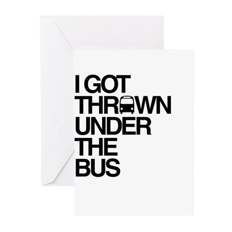"""Thrown Under the Bus"" Greeting Cards (Pk of 10)"