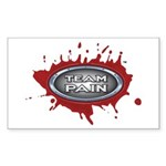 Team Pain blood / grey logo Sticker (Rect 10 pk)