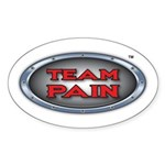 Team Pain red logo Oval Sticker (10 pk)