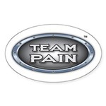 Team Pain grey logo Oval Sticker
