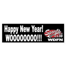 "WDFN ""Happy New Year"" Black Bumper Sticker"