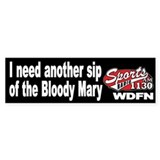 "WDFN ""Another Sip"" Black Bumper Sticker"