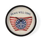 Peace Will Come Wall Clock