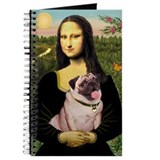 Mona Lisa Fawn Pug Journal