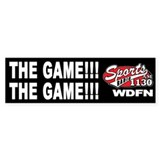 "WDFN ""The Game"" Black Bumper Sticker"