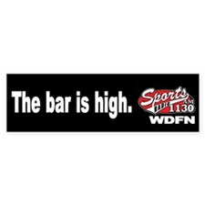 "WDFN ""Bar is High"" Black Bumper Sticker"