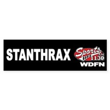 "WDFN ""STANTHRAX"" Black Bumper Sticker"