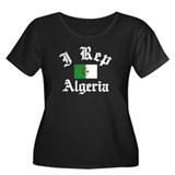 I rep Algeria Women's Plus Size Scoop Neck Dark T-
