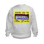 Point Me To The Park Kids Sweatshirt