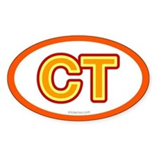 CT - Connecticut Oval Decal