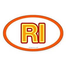 RI - Rhode Island Oval Decal