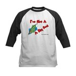 I've Got A Big Rod Fishing Kids Baseball Jersey