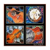 Bluegrass & Dobro Tile Coaster