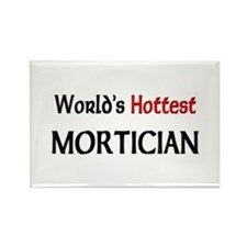 World's Hottest Mortician Rectangle Magnet (10 pac