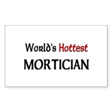 World's Hottest Mortician Rectangle Sticker