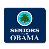 SENIORS FOR OBAMA Mousepad