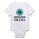SENIORS FOR OBAMA Infant Bodysuit