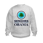 SENIORS FOR OBAMA Kids Sweatshirt