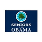 SENIORS FOR OBAMA Rectangle Magnet (100 pack)