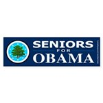 SENIORS FOR OBAMA Bumper Sticker (10 pk)