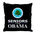 SENIORS FOR OBAMA Throw Pillow