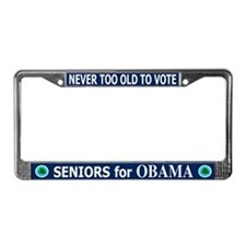 SENIORS FOR OBAMA License Plate Frame