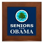 SENIORS FOR OBAMA Framed Tile