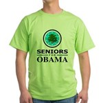 SENIORS FOR OBAMA Green T-Shirt