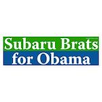 Subaru Brats for Obama bumper sticker