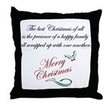 Best Christmas is... Throw Pillow