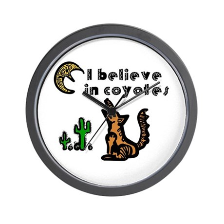 Believe in Coyotes Wall Clock