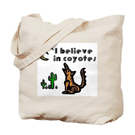 Believe in Coyotes Tote Bag