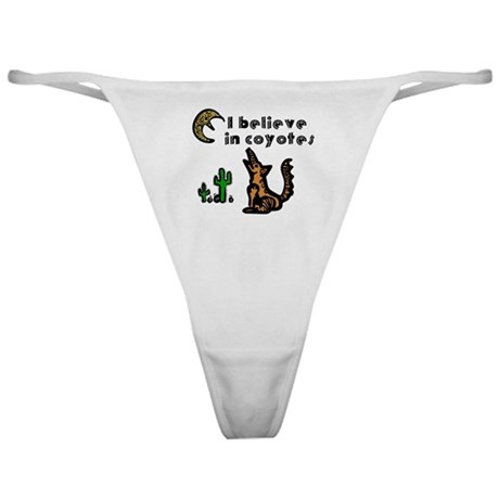 Believe in Coyotes Classic Thong