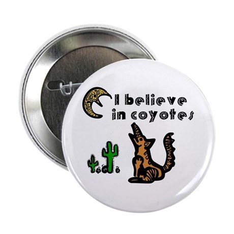 "Believe in Coyotes 2.25"" Button"