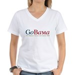 GoBama Go Obama Women's V-Neck T-Shirt