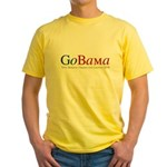 GoBama Go Obama Yellow T-Shirt