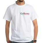 GoBama Go Obama White T-Shirt