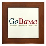 GoBama Go Obama Framed Tile