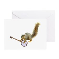 Squirrel with Banjo Greeting Cards (Pk of 10)