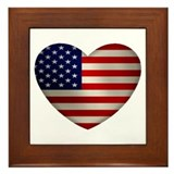 Heart America Framed Tile