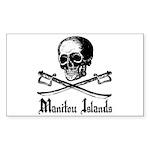 Manitou Island Pirate Rectangle Sticker