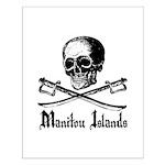 Manitou Island Pirate Small Poster