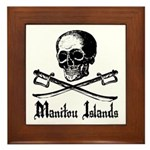 Manitou Island Pirate Framed Tile
