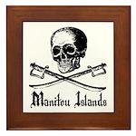 Manitou Island Pirate Framed Tile