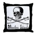 Manitou Island Pirate Throw Pillow