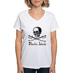 Manitou Island Pirate Women's V-Neck T-Shirt